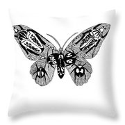 Butterfly With Design Throw Pillow