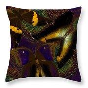 Butterfly Worlds Throw Pillow