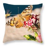 Butterfly's Friend Throw Pillow