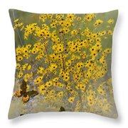 Butterfly's Paradise Throw Pillow
