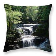 Buttermilk Shimmer Throw Pillow