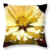 Buttermilk Yellow Throw Pillow