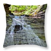 Butternut Falls Throw Pillow by Frozen in Time Fine Art Photography