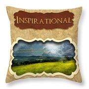 Button - Inspirational Throw Pillow
