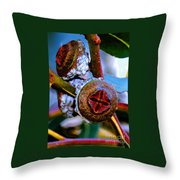 Pacific Northwest Washington Button Seed Pod Throw Pillow