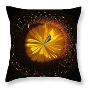 Button Of A Sunflower Throw Pillow