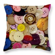 Buttons 667 Throw Pillow