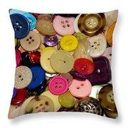 Buttons 670 Throw Pillow