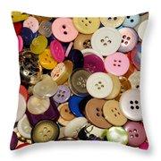 Buttons 671 Throw Pillow