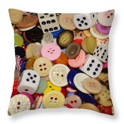 Buttons 676 Throw Pillow