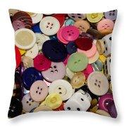 Buttons 678 Throw Pillow