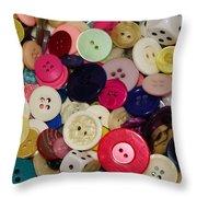 Buttons 680 Throw Pillow