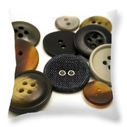Buttons Throw Pillow by Fabrizio Troiani