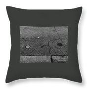 Buttons On The Concrete Throw Pillow