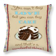 Buy Cake Typography Throw Pillow