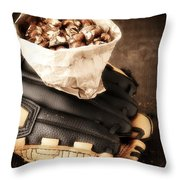 Buy Me Some Peanuts And Cracker Jack Throw Pillow by Edward Fielding