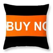 Buy Now Orange Throw Pillow