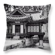 Buyongjeong Pavilion In Secret Garden Throw Pillow