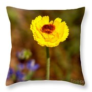 Buzzin' Throw Pillow