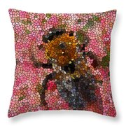 Buzzing Bumblebee Throw Pillow