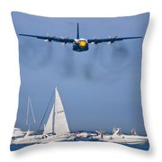 Buzzing The Crowd Throw Pillow