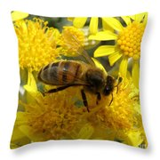 Buzzzzzy Throw Pillow by Lainie Wrightson