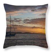 Bvi Sunset Throw Pillow
