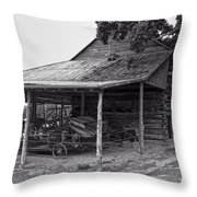 bw Antique Barn Throw Pillow