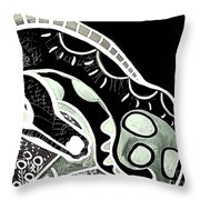 Bw Horse Throw Pillow