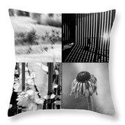 Bw Montage 01 Throw Pillow