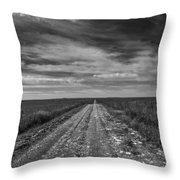 Bxw Gravel Vanishing Point Throw Pillow