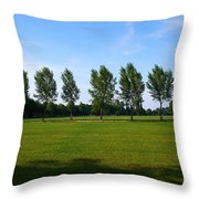 By A Canal Throw Pillow