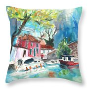 By A French Canal 01 Throw Pillow