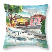 By A French Canal 02 Throw Pillow