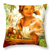 by Amorsolo Throw Pillow