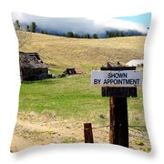 By Appointment Throw Pillow