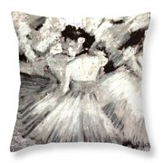 By Degas Throw Pillow
