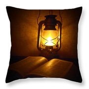By His Light Throw Pillow