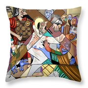 By My Wounds You Were Healed Throw Pillow