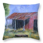 By The Barn Out Back Throw Pillow