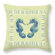 by the beautiful sea II Throw Pillow by Jane Schnetlage