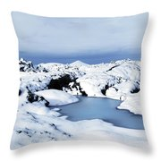 By The Blue Lagoon In Iceland Throw Pillow