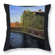 By The Canal - Leuven Belgium Throw Pillow