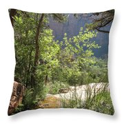 By The Emerald Pools - Zion Np Throw Pillow