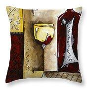 By The Fireside Original Madart Painting Throw Pillow