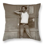 By The Garage Throw Pillow
