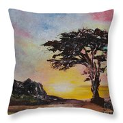 By The Golden Sea Throw Pillow