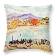 by The Lake II Throw Pillow