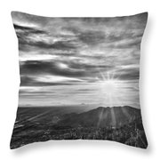 By The Light Of God Throw Pillow