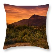 By The Light Of The Sunset Throw Pillow